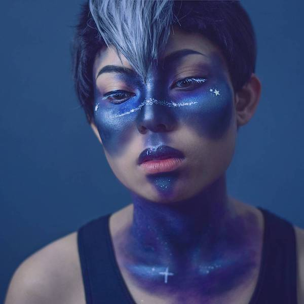 galaxy make up trend silvester karneval