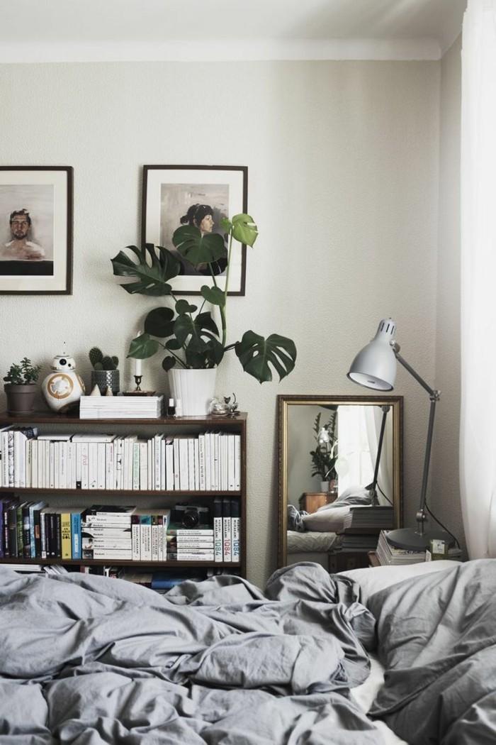 gemütliches schlafzimmer bettwäsche farben stauraum