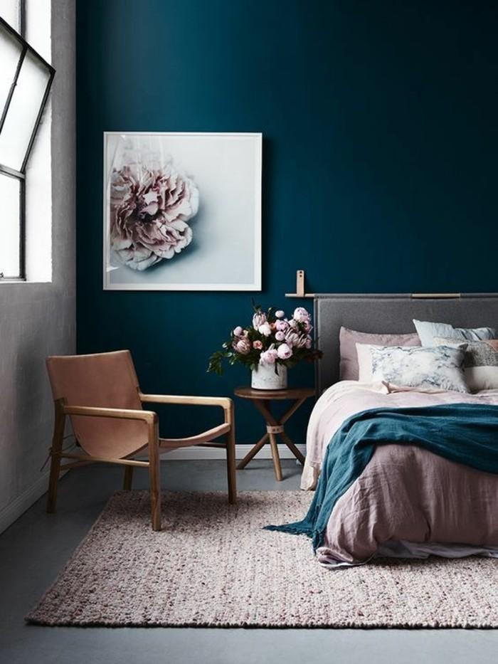 gemütliches schlafzimmer farbmix zwei farben
