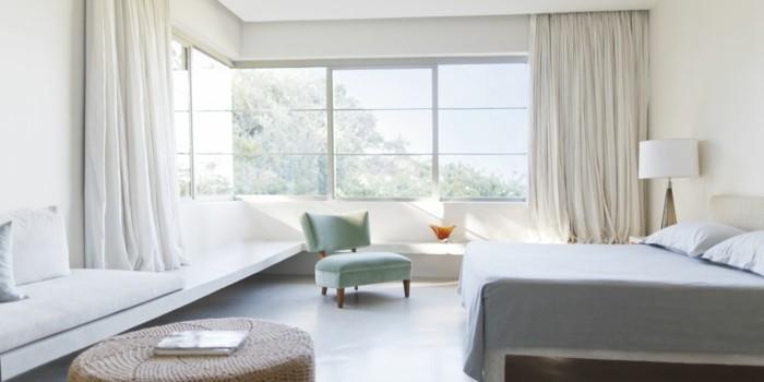 gemütliches schlafzimmer schlichte deko bequeme möbel