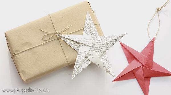 geschenkeanhänger selber basteln weihnachtssterne origami weihnachten