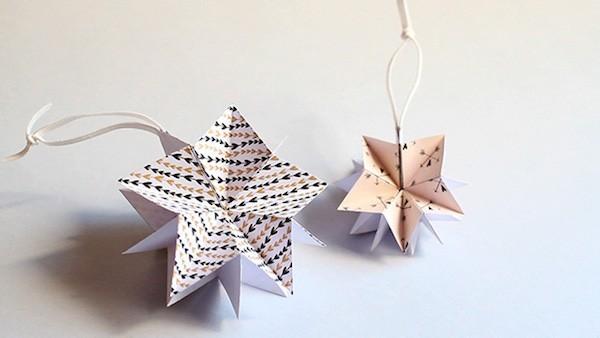 geschenkpapier origami weihnachten ideen sterne aus papier