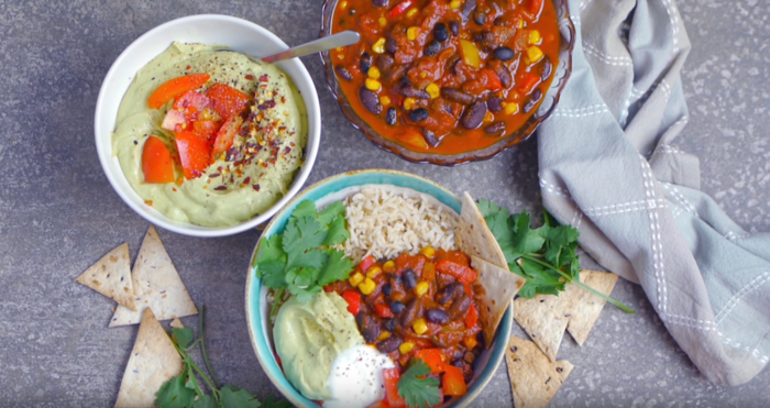 gesund kochen chili sin carne vega