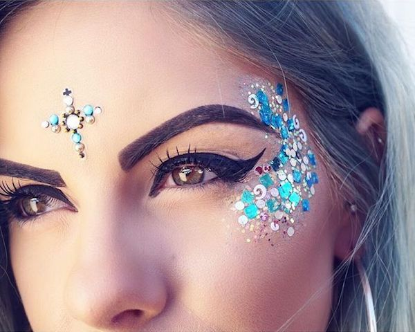 glitzer galaxy make up insta trend