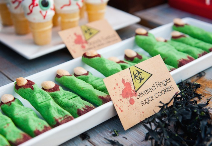 grüne hexenfinger backen halloween ideen