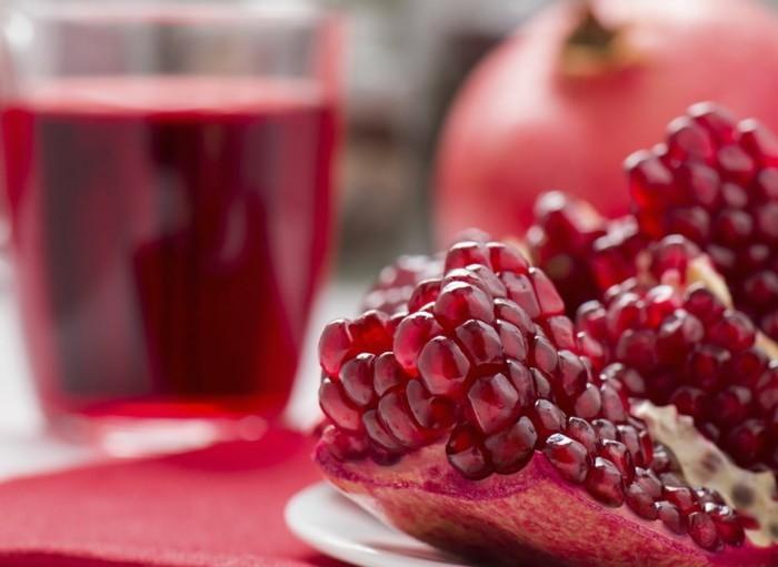 granatapfel essen granatapfel saft gesund