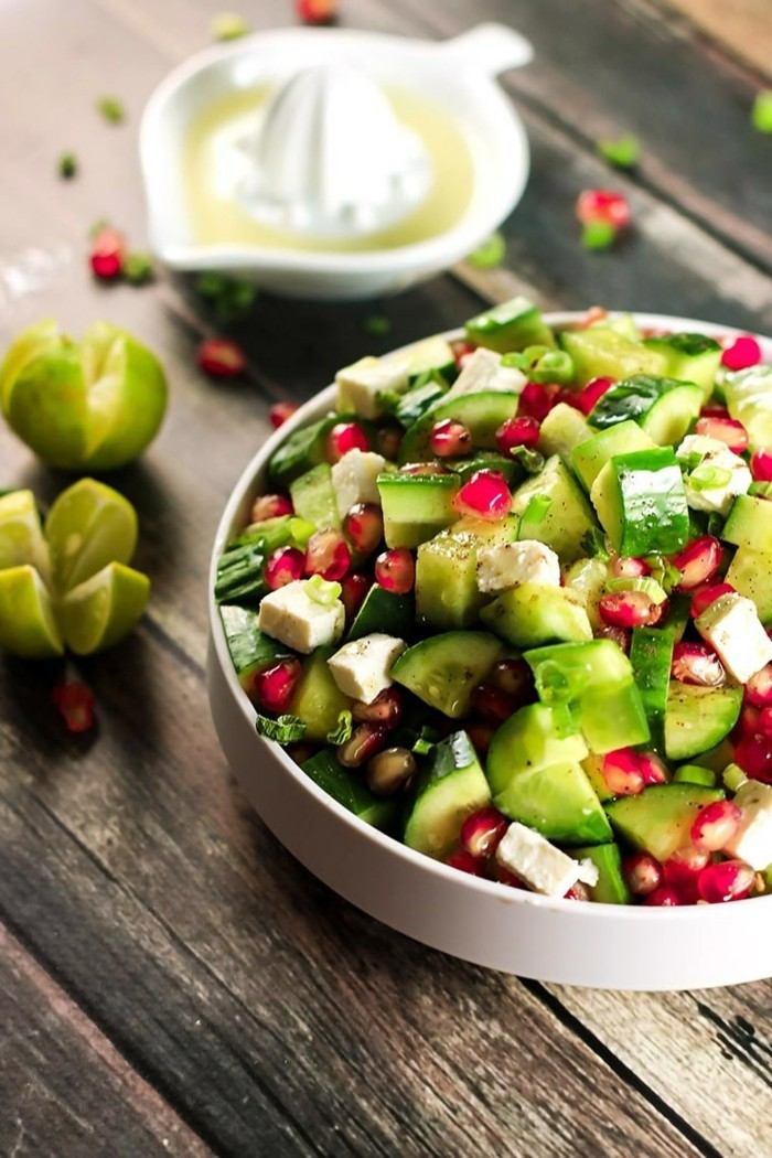 granatapfel essen salat