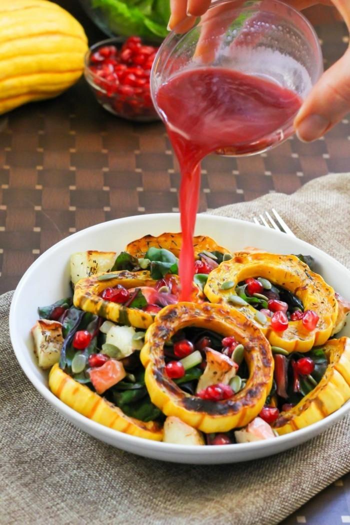 granatapfel essen vinaigrette