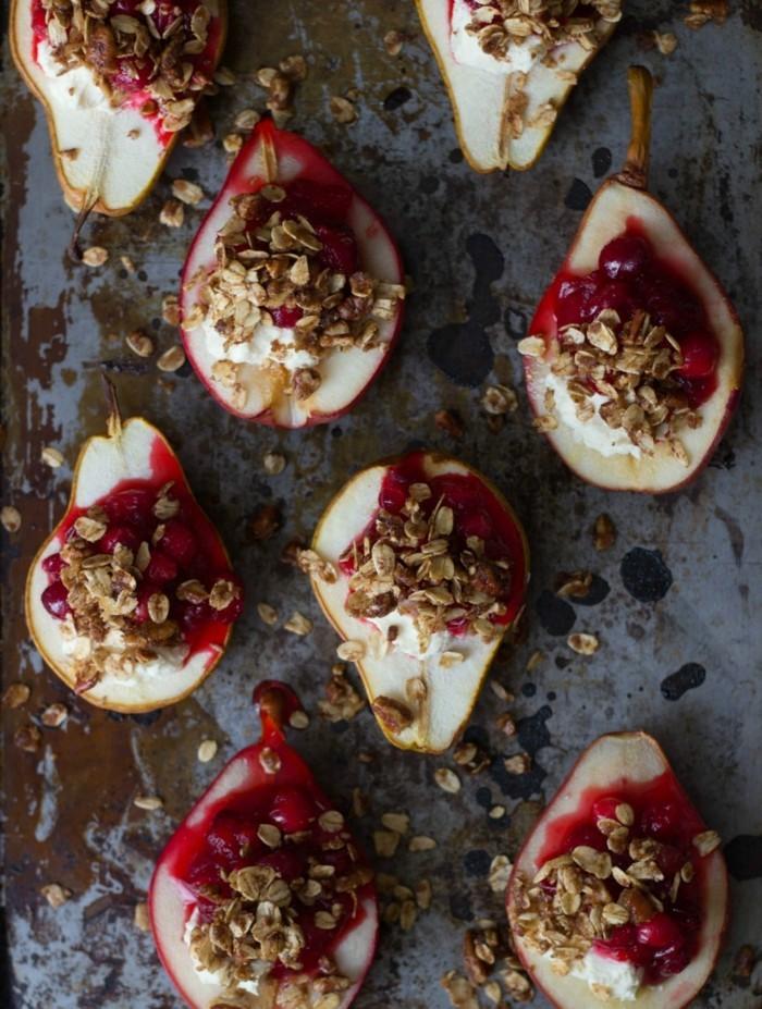 granatapfel essen ziegenkaese birne