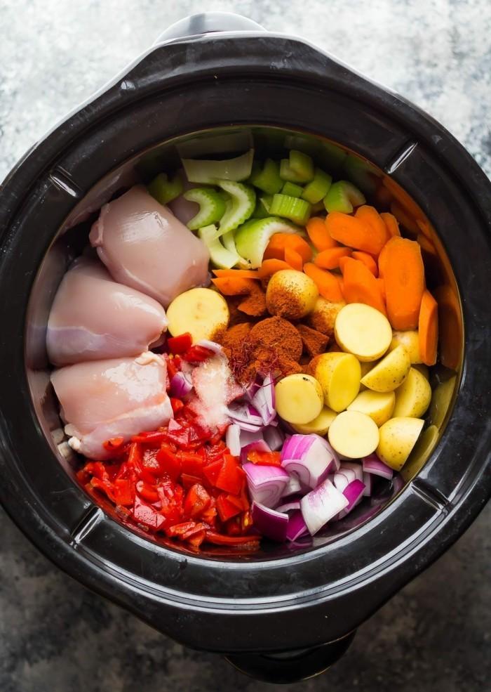 hähnchenbrustfilet gemüse eintopf slow cooking rezept