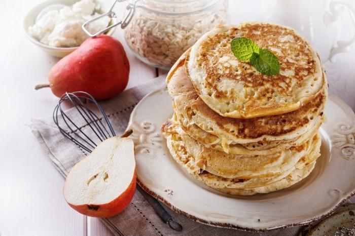 hafermehl kuerbispfannkuchen backen herbst brunch