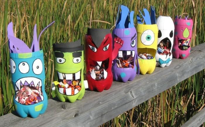 halloween basteln herbst deko diy deko ideen aus plastikflaschen