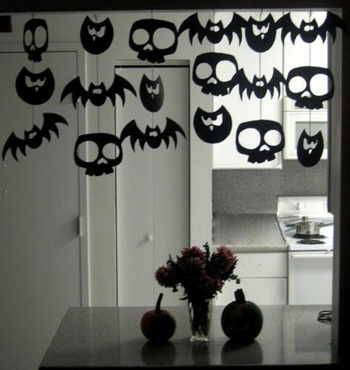 halloween basteln herbst deko diy deko ideen ausschneiden