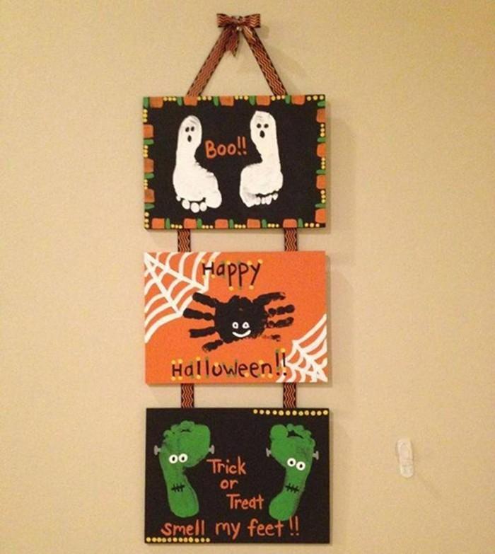 Halloween Deko Basteln herbst deko diy deko ideen bilder
