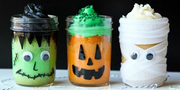 halloween deko basteln herbst deko diy ideen einmachglas