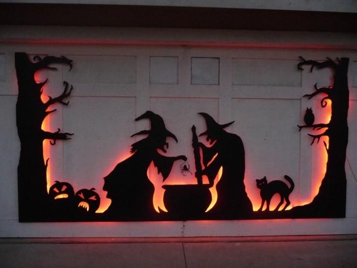 Halloween deko basteln ber 70 gruselige diy ideen zum fest des f rchtens - Halloween fensterdeko ...