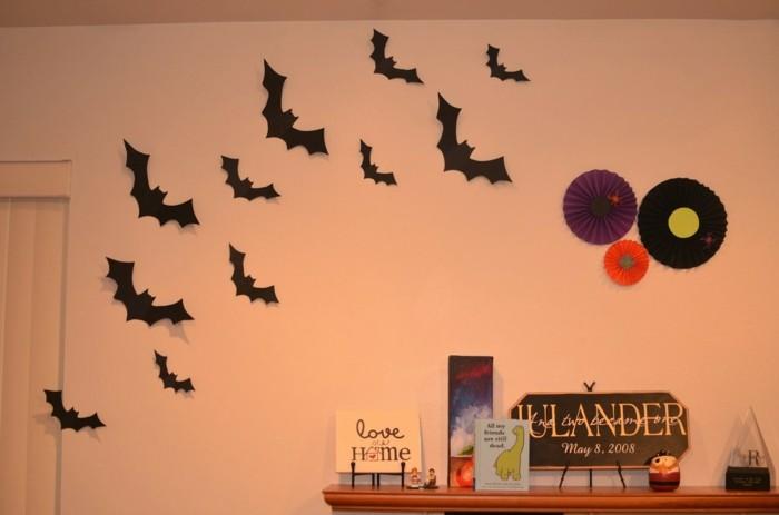 halloween deko basteln herbst deko diy deko ideen fleddermaus