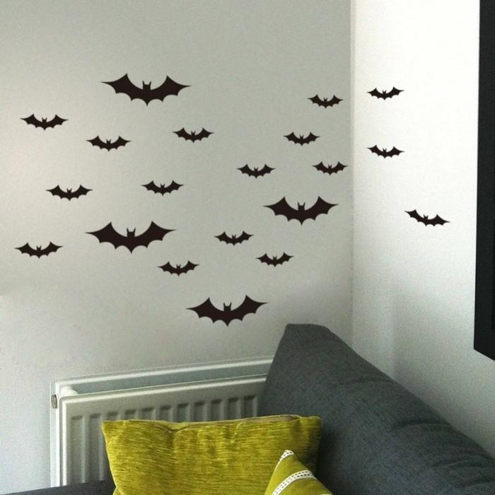 halloween deko basteln herbst deko diy ideen fledermaus