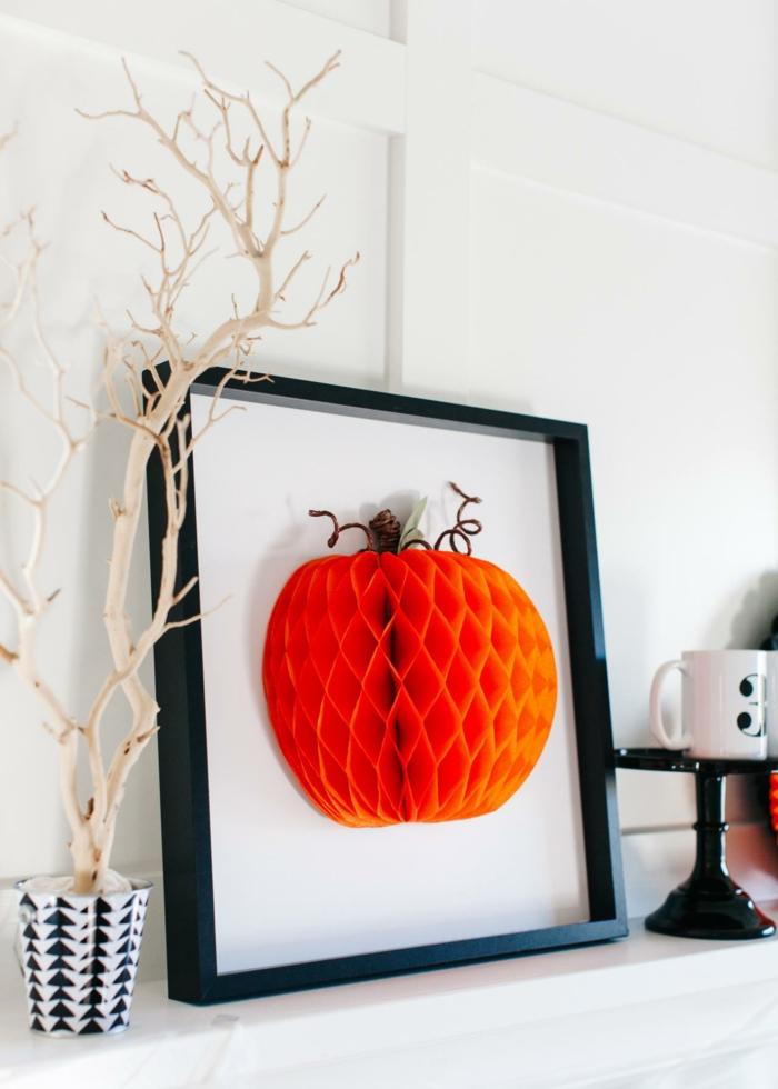 halloween basteln herbst deko diy deko ideen gesicht einmachglas 3D Bild