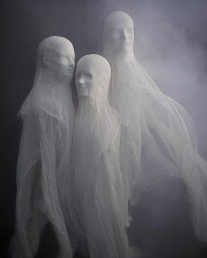 halloween basteln herbst deko diy deko ideen gipsfiguren
