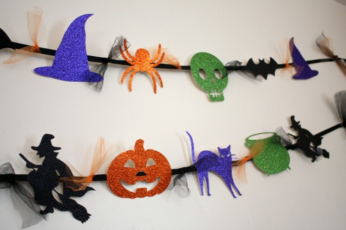 halloween basteln herbst deko diy deko ideen girlande