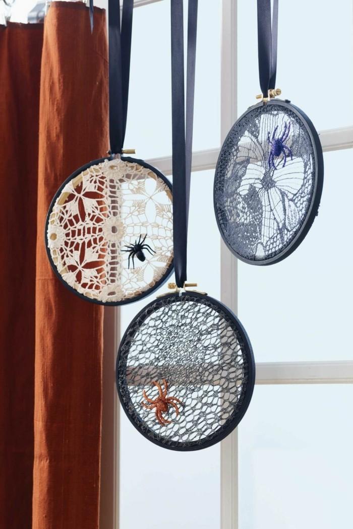 halloween basteln herbst deko diy deko ideen medallon