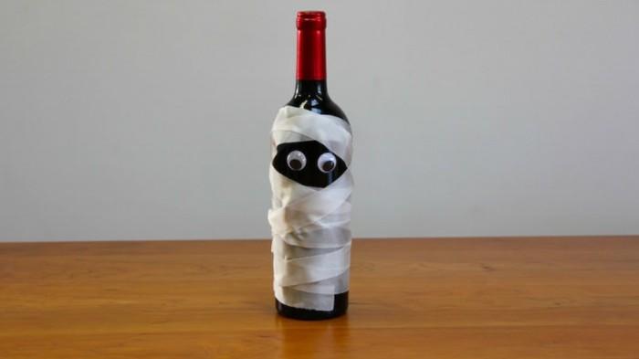 halloween basteln herbst deko diy deko ideen mit flaschen