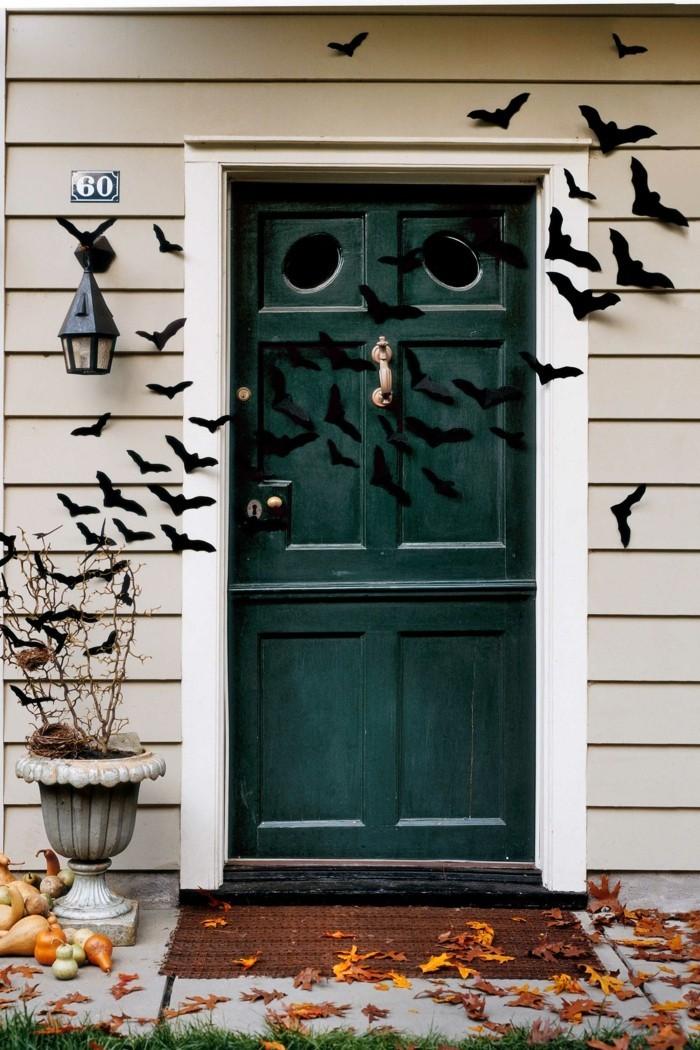 halloween basteln herbst deko diy deko ideen schwarze voegel