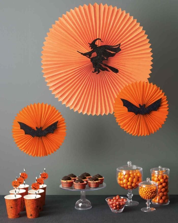 halloween basteln herbst deko diy deko ideen wanddeko