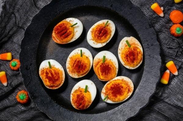 halloween fingerfood rezept mit eiern