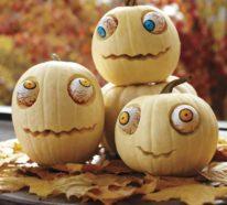 Halloween Kürbis – 40 ausgefallene Ideen, wie Sie Kürbisse zu Halloween in Szene setzen