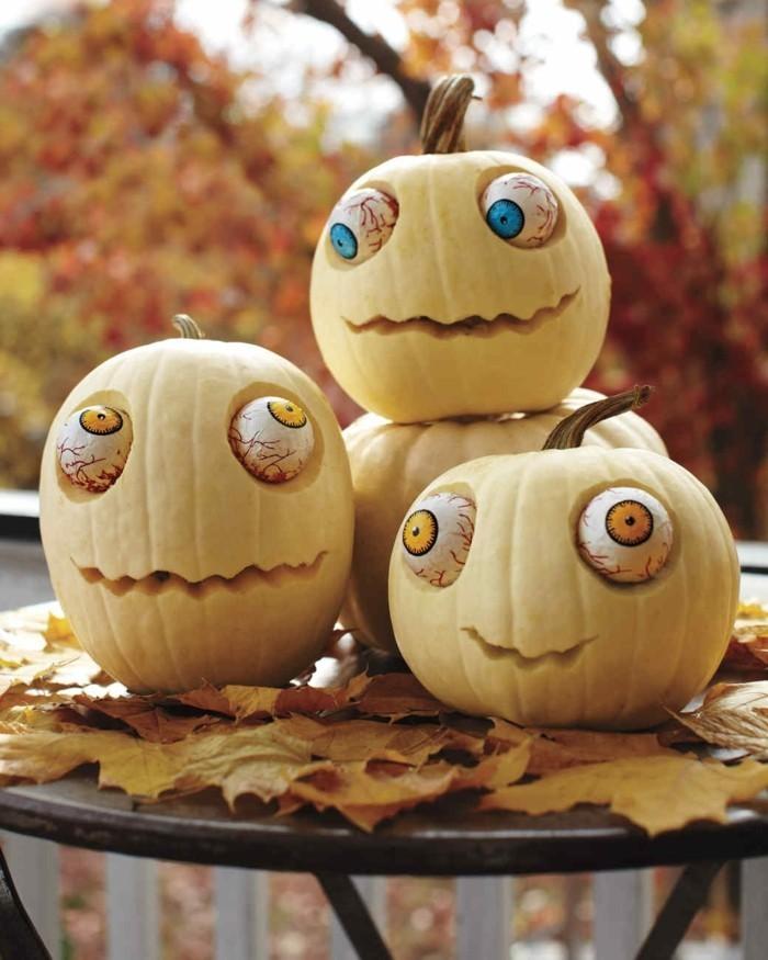 halloween kuerbis ausgefallene idee für kuerbisse zombies