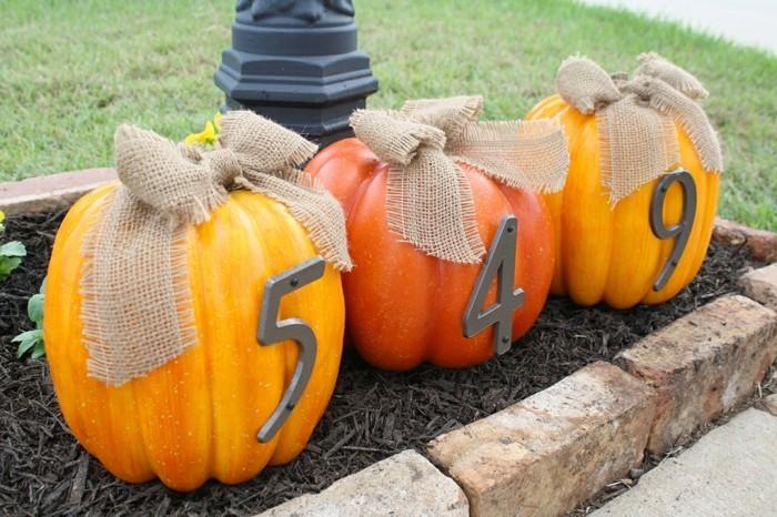 halloween kuerbis frische dekoideen für den eingang