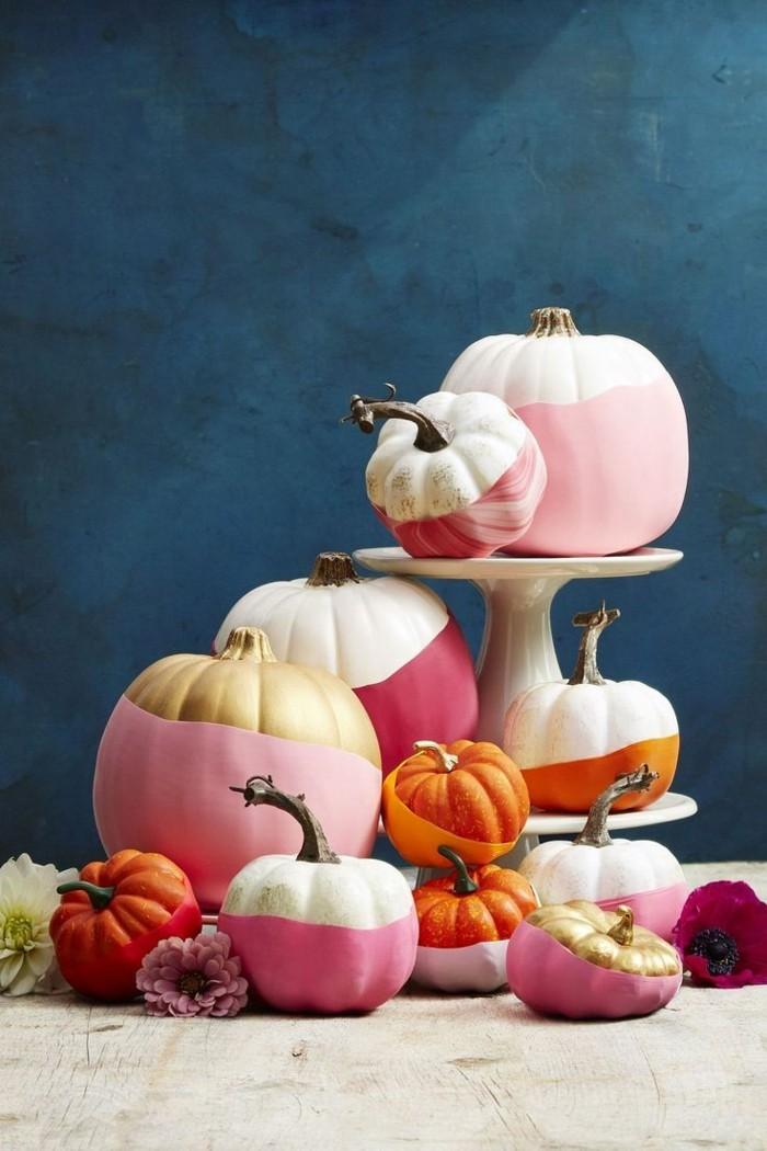 halloween kuerbis kuerbisse bamalen in frischen farben
