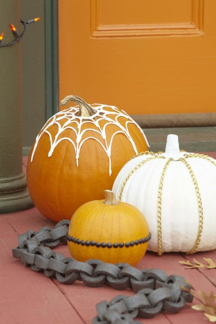 halloween kuerbis kuerbisse dekorieren ideen