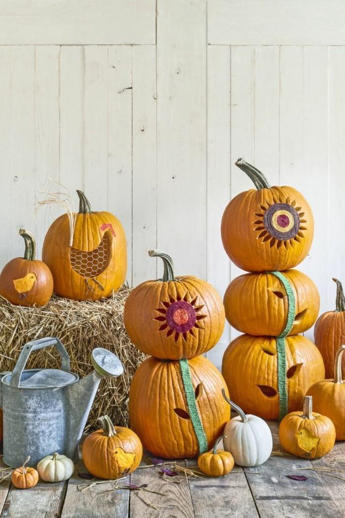 halloween kuerbis kreative dekoideen mit kuerbissen
