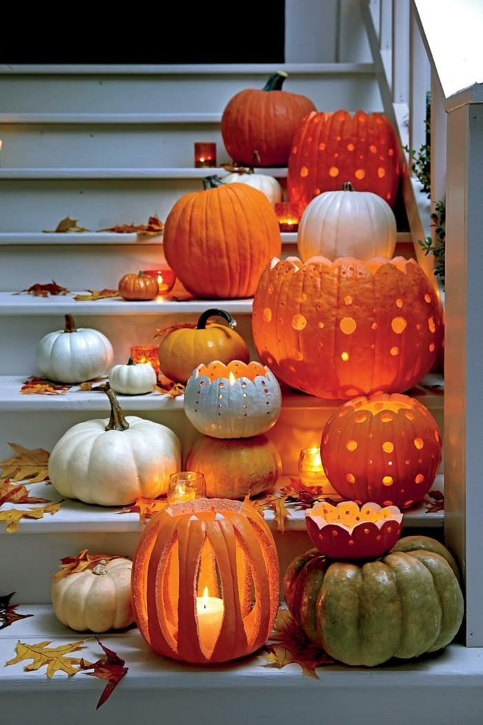 halloween kuerbis kreative ideen für die gartengestaltung