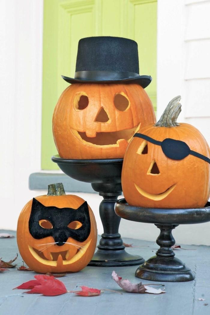 halloween kuerbis kreative kuerbisgesichter