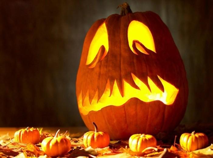 halloween kuerbis laterne basteln