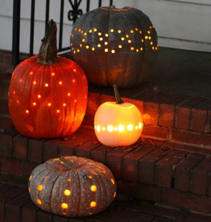 halloween kuerbis laternen fuer den außenbereich