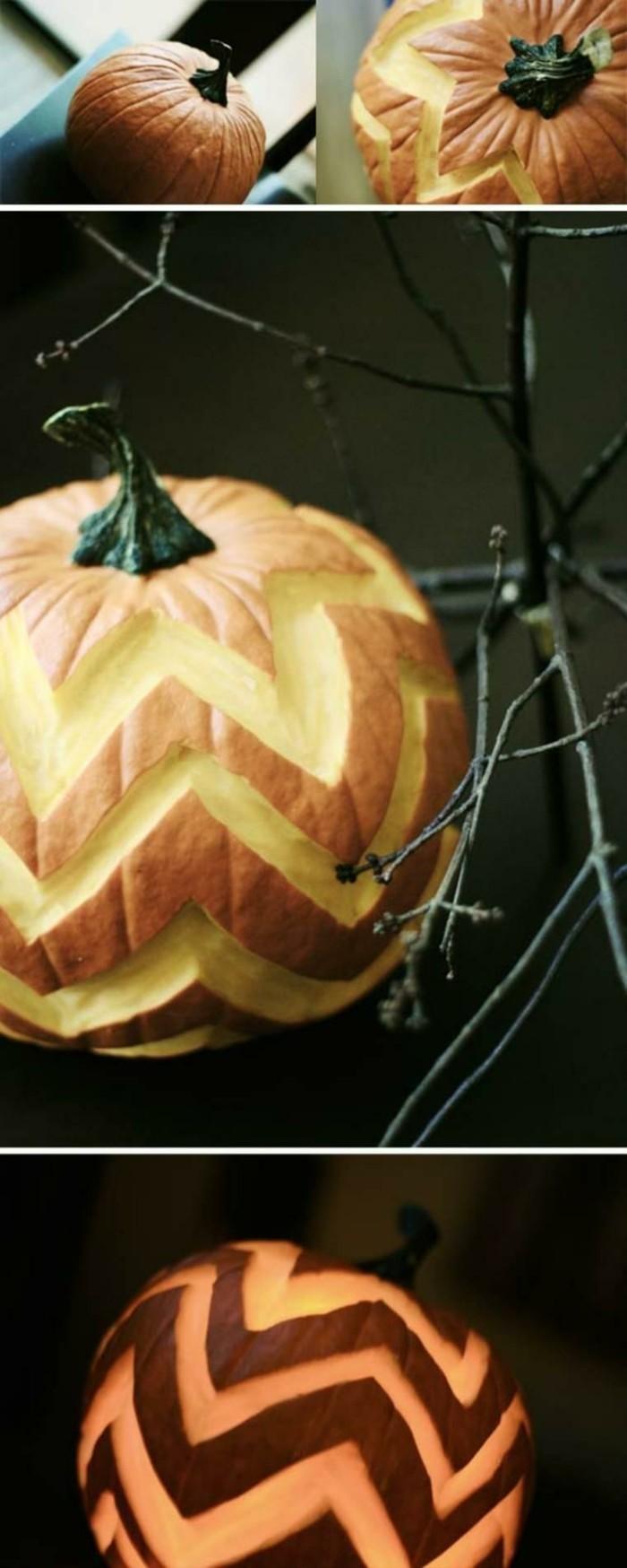halloween kuerbis schnitzen ausgefallene bastelideen festliche stimmung