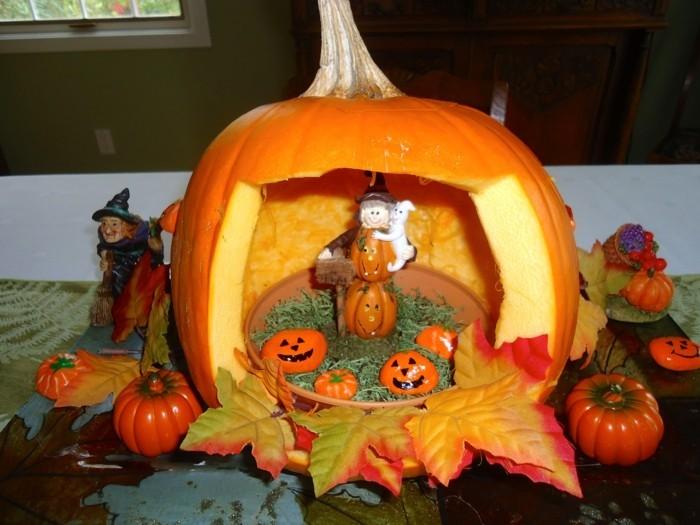 halloween kuerbis schnitzen ausgefallene ideen für halloween dekoration