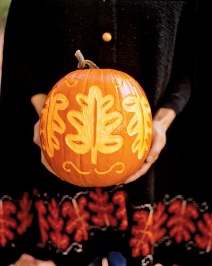 halloween kuerbis schnitzen ideen fein und stilvoll