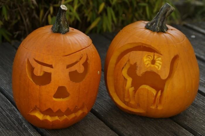 halloween kuerbis schnitzen kreative ideen
