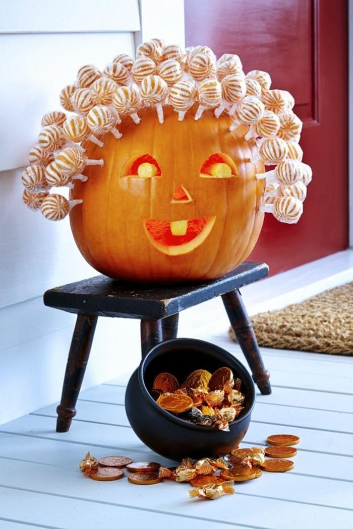 halloween kuerbis schnitzen lustige dekoideen mit kuerbissen