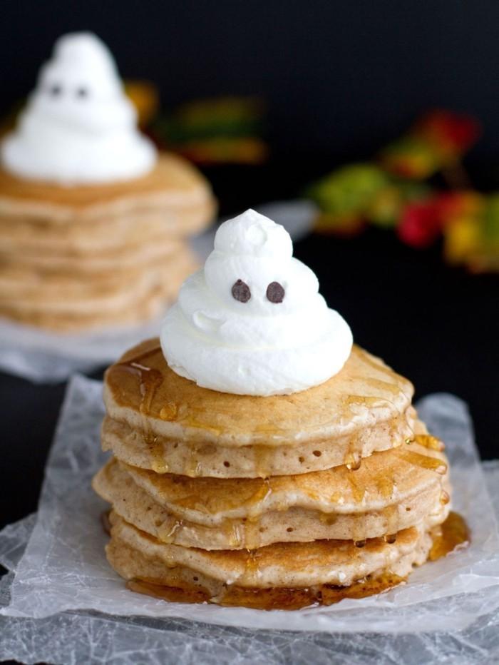 halloween rezepte kuerbispfannkuchen sahne