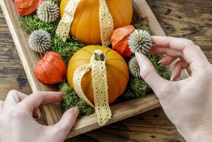 Herbstdeko Ideen.Kürbisse Im Blickfang Herbstdeko Mit Kürbissen In 60