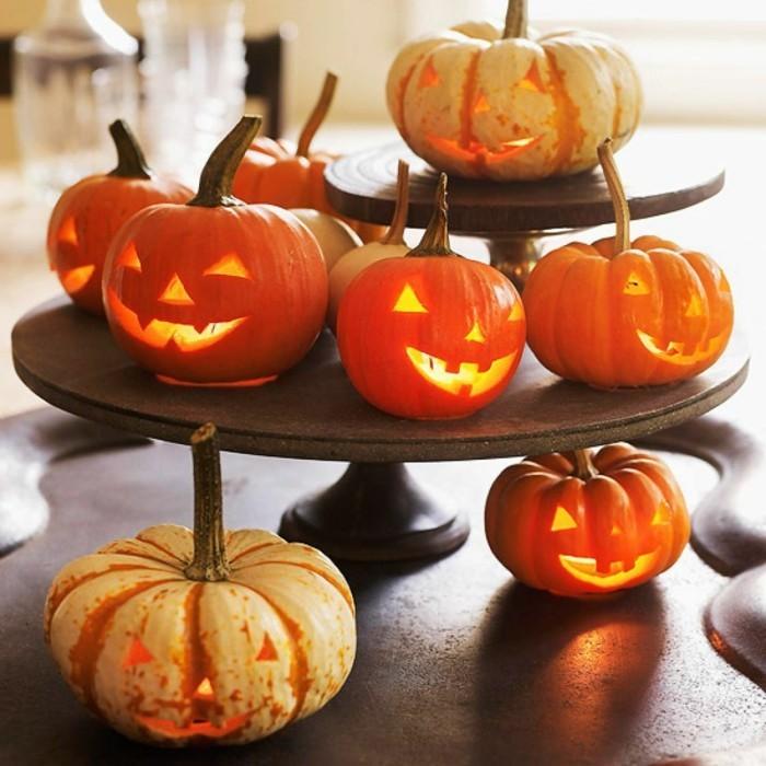 herbstdeko mit kürbissen halloween dekoideen