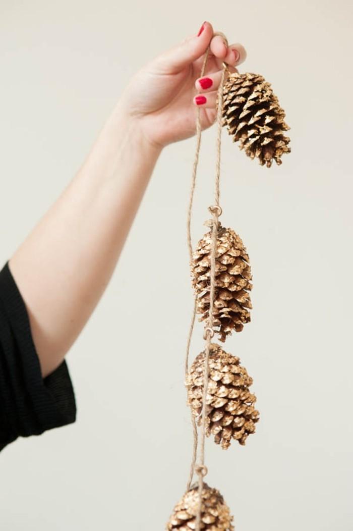 herbstdeko winterdeko basteln mit tannenzapfen kamin weihnachtsdeko basteln mit naturmaterialien