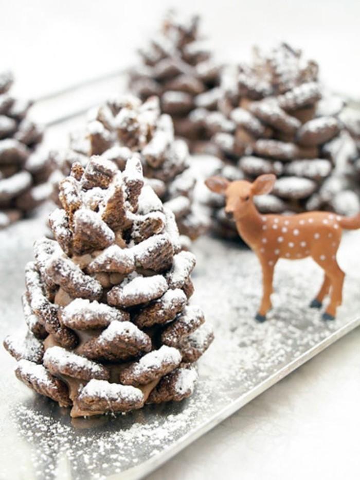 herbstdeko winterdeko basteln mit tannenzapfen kamin weihnachtsdeko schneelandschaften